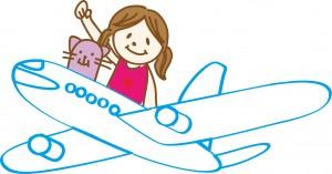 女性飛行機